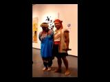 Consonance與數位荷蘭籍藝術家的畫作共同展出 原住民朋友現場歌唱