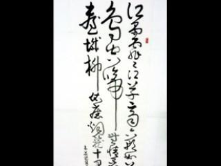 狂草法書影片---韋莊-金陵圖